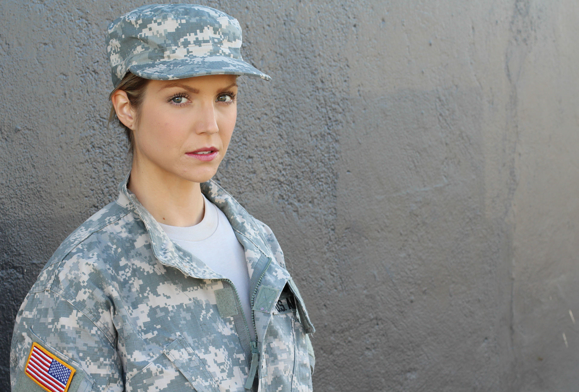 photo of an service woman