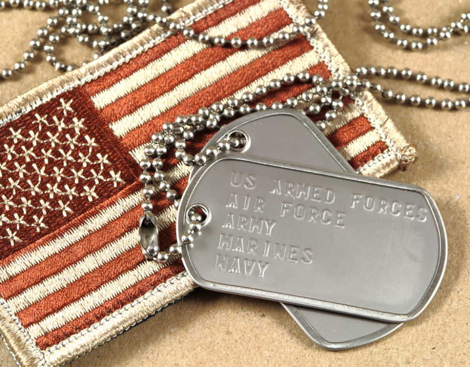 photo of military dog tag
