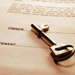 door key on rental agreement